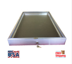 Aluminum Display Case End Opening 22 X 34 X 31/4 Knives Cards Gun Jewelry And More