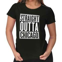 Straight Outta Chicago IL City Movie T Shirts Gift Ideas Womens T-Shirt