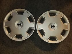 Pair Of 2 New 2009 10 11 12 13 14 2015 Versa Cube 15 Wheel Covers Hubcaps 53072