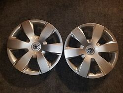 Pair Of 2 New 2007 08 09 10 11 Camry 16 Hubcaps Wheel Covers 61137