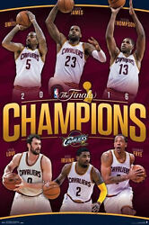 Cleveland Cavs Cavaliers 2016 Nba Champions Poster 24x36 Lebron James Kevin Love