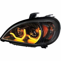 Blackout Freightliner Columbia Projection Headlight W/ Dual Led Light - Driver