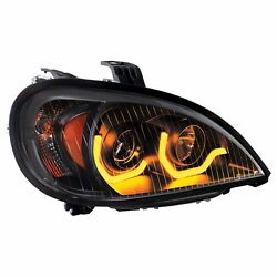Blackout Freightliner Columbia Projection Headlight W Dual Led Light-passenger