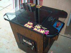 Ms PAC-MAN Fully Restored Original Cocktail Table Video Arcade Game w Warranty