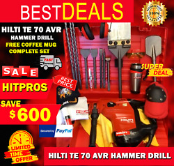 Hilti Te 70 Avr Preowned Free Coffee Mug Bits And Chisels Quick Shipping
