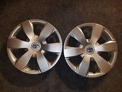 Pair Of 2 New 2007 2008 2009 2010 2011 Camry 16 Hubcaps Wheel Covers 61137