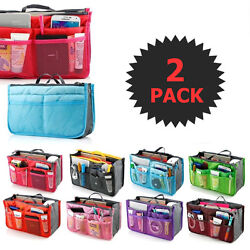 2 X Purse Organizer Insert Pack Women Travel Set Handbag Liner Tidy Dual GIFT $7.99