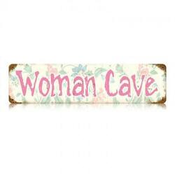Woman Cave Metal Sign Kitchen Craft Room Ladies Girls Mom Unique Wall Decor V486