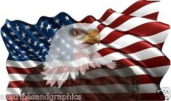 36x60 American Flag Eagle 1 Window Rv Trailer Decal Decals Graphics Wall Art