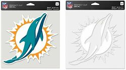 Nfl Miami Dolphins 8 X 8 Clear Or Team Color Peel-off Decals New
