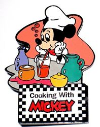 Le 100 Disney Auctions Pin✿mickey Mouse Cooking Beverages Drinks Soda Chefs Hat