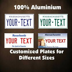 Massachusetts State Tag Auto Or Motorcycle Novelty Personalized License Plates