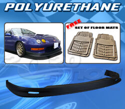 For Acura Integra 98-01 T-m Style Front Bumper Lip Body Kit Pu + Floor Mat Pair