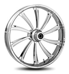 Rc Components Chrome Cypher 16 Front Wheel And Tire Harley 08-17 Flh/t W/ Abs