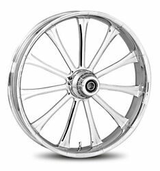 Rc Components Chrome Exile 16 Front Wheel And Tire Harley 08-17 Flh W/o Abs