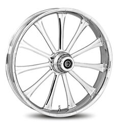 Rc Components Chrome Exile 16 Front Wheel And Tire Harley 07-16 Flst W/ Abs