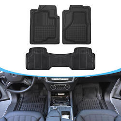 Auto Floor Mats For Suv Car - All Weather Hd 3d Rubber Odorless Front And Rear Set
