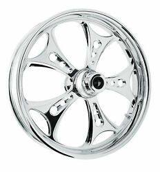 Rc Components Chrome Holeshot 21 Front Wheel And Tire Harley 00-07 Flh/t
