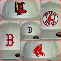 Boston Red Sox Flex Fit Cap ⚾hat ⚾classic Mlb Patch/logo ⚾5 Style 2 Sizes⚾️new