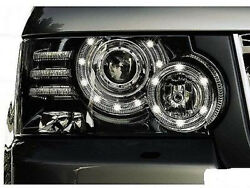 LED Bi Xenon Headlights Black Couple AFS FOR LAND ROVER Range Rover Sport 11-