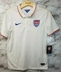Rare Nike Us National Team Gold Cup Soccer Jersey Boys Youth Large 2014 Nwt