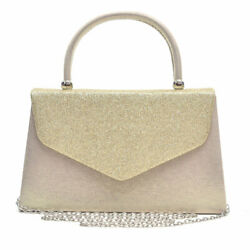 Women#x27;s Evening Bags Party Clutches Glitter Frosted Wedding Cocktail Purses $15.99