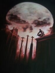 Punisher Daredevil 28x16 Oil Painting Not A Print, Framing Avail. Avengers Hells