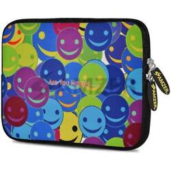 Amzer 10.5 Neoprene Sleeve Case Cover Pouch For Tablet Netbook - Smiley Heads