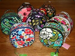 NWT Vera Bradley HATBOX COSMETIC case hat box tote bag makeup for home or away