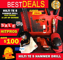 Hilti Te 5 Preowned, Free Thermo, Bits, A Lot Of Extra Items, Fast Ship