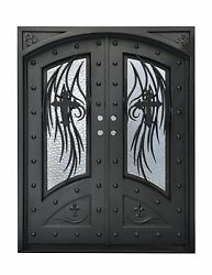 Stunning, Hand-Crafted, 12-Gauge Wrought Iron Entry Doors 72