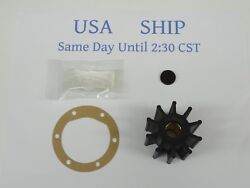 Impeller Kit Replaces Jabsco 18777-0001-p Sea Water Pump With Lube Pack 10 Blade