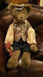 40 Collectors Bear Dressed Sharply With Shirt Vest Hat Tie For Your Show Room