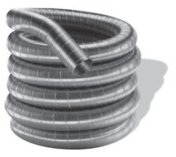 Mandg Duravent Stainless Steel Single Wall Chimney Pipe -7 X 35'