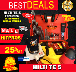 Hilti Te 5 Preowned, Free Laser Meter, Bits, A Lot Of Items, Fast Ship