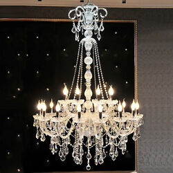 European TOP crystal chandelier living room stair villa Hall pendant light lamp