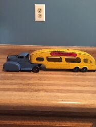 Vintage Louis Marx And Co Truck And Auto Transport