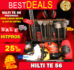 Hilti Te 56 Preowned Free Laser Meter Extra Items Fast Ship