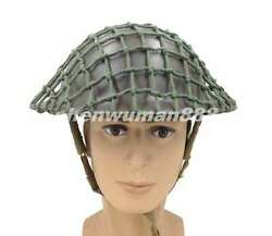 Wwii Ww2 Uk Army Mk2 British Tommy Army Helmet And Cover Cotton Camouflage Net