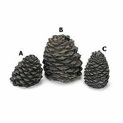 Chimney 48984 Hargrove Large Straight Ceramic Pine Cone For Gas Logs 5.5 Inchh