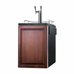 Summit Built-in Residential Beer Dispenser -wood Sbc635mbiiftwin