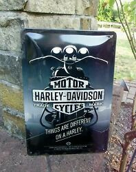 Official Harley-davidson Motorcycles Things Are Different On A Harley Wall Sign