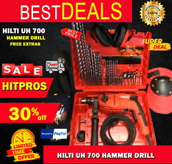 Hilti Uh 700 Hammer Drill, New, Free Angle Grinder, A Lot Of Extras, Fast Ship