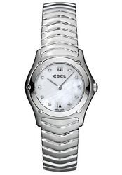Ebel 9157f11-9725 Classic Wave Mother-of-pearl Dial Diamond Watch 2,640