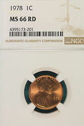 1978-p Ngc Ms66 Red Lincoln Memorial Cent A6970
