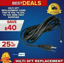 Hilti 8ft Replacement Cord For Te 500, Te 505, Te 700, New, Fast Shipping