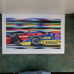 Michael Mario Andretti Indy 500 hand signed Randy Owens 22 125 1986 unframed