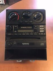 2000 Subaru Legacy Outback AM FM Tape Radio CD Player w Climate Control Assembly