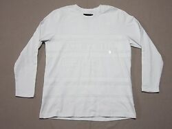 Been Trill Mens White Thick Long Sleeve W/ White Graphics T-shirt Size Xl New