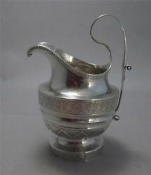 Chaudron And Rasch Exquisite Coin Silver Cream Pitcher Southern Philadelphia